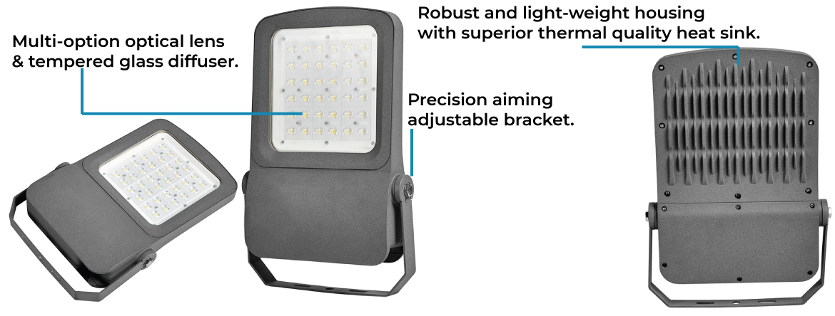 LED Flood Light RINK-II series from OptiTech